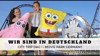 WIR SIND IN DEUTCHLAND | Dag 1 Moviepark Germany