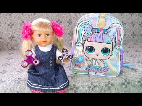 Как Мама Собирала Беби Бон Эмили в Школу Мультик для детей Игрушки для девочек
