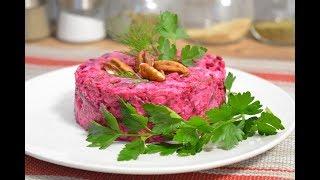 Очень вкусный Салат из свеклы и сыра