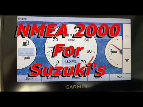 Suzuki NMEA 2000 : Complete Install For Outboards