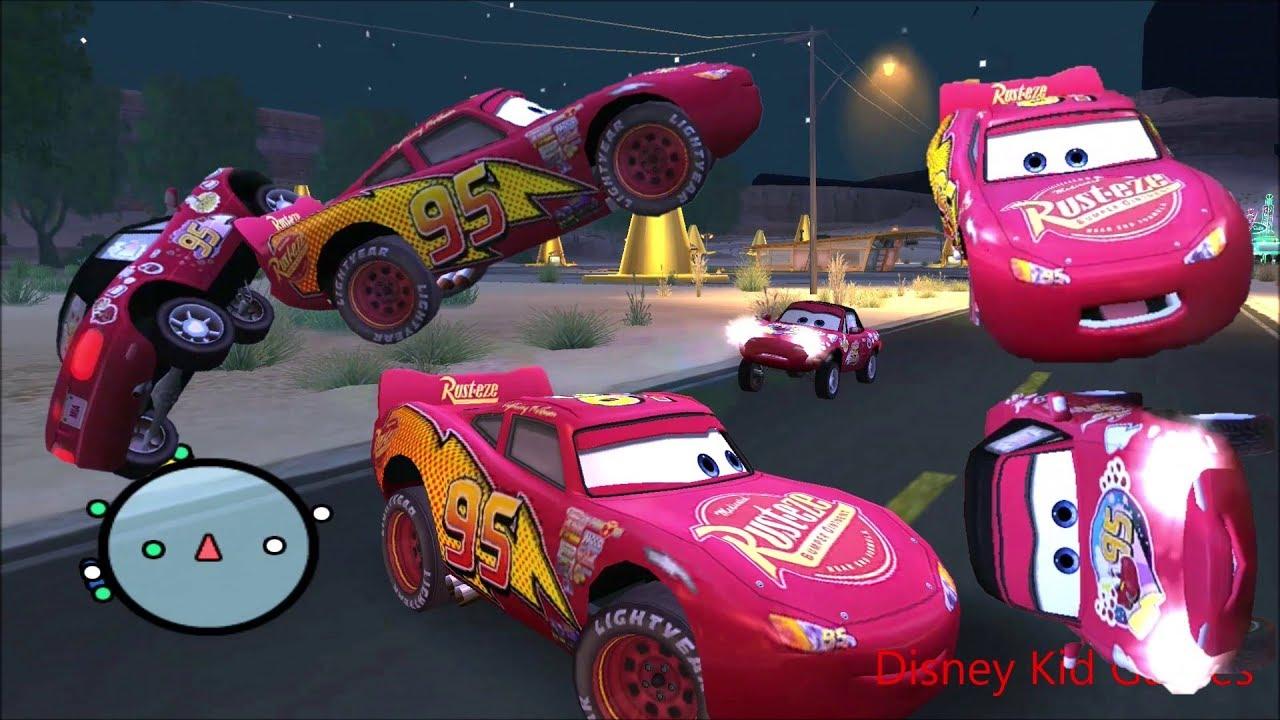 Disney Pixars Cars Movie Game - Crash Mcqueen 205 - Bumping Into Mia