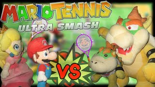ABM: Mario & Peach Vs Bowser & Bowser Jr *Mario Tennis Ultra Smash!!* HD
