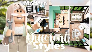 Every ROOM Has a Different INTERIOR STYLE! || Roblox Bloxburg