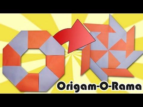 Estrella ninja de papel se transforma youtube - Estrellas de papel ...