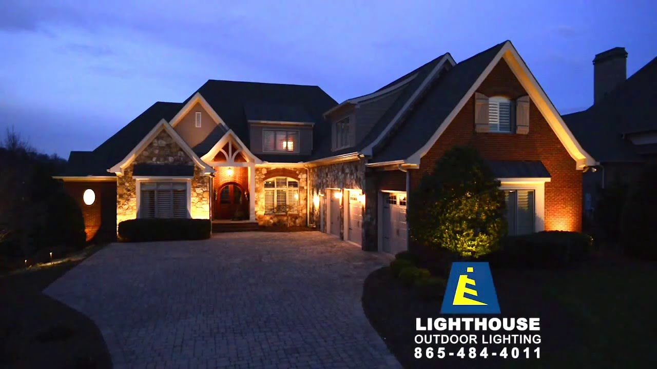 outside lighting using low voltage led lighting system by