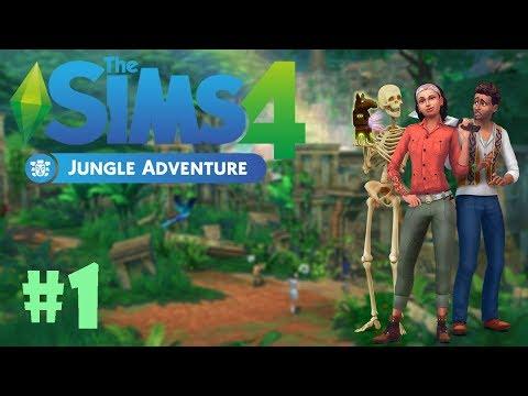 The Sims 4 Jungle Adventure Oynayalım!! 🗿🐜🐝⛺ | Bölüm 1 | C-A-S & Build / Buy Mode İncelemesi!!
