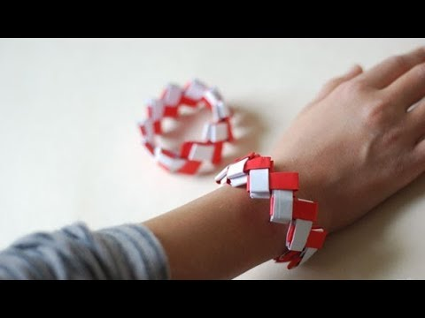 DIY   Origami bracelet  - tutorial   DIY jewelry   5 minute craft   paper craft   Origami