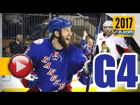 Ottawa Senators vs New York Rangers. 2017 NHL Playoffs. Round 2. Game 4. May 4th, 2017. (HD)