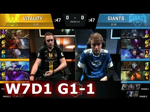 Vitality vs GIANTS | Game 1 S7 EU LCS Spring 2017 Week 7 Day 1 | VIT vs GIA G1 W7D1 1080p