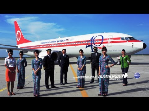 The Painting of Malaysia Airlines Retro Jet