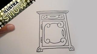 Dibujar Un Buró Mesita de Noche Tutorial ILUSTRA SHOW