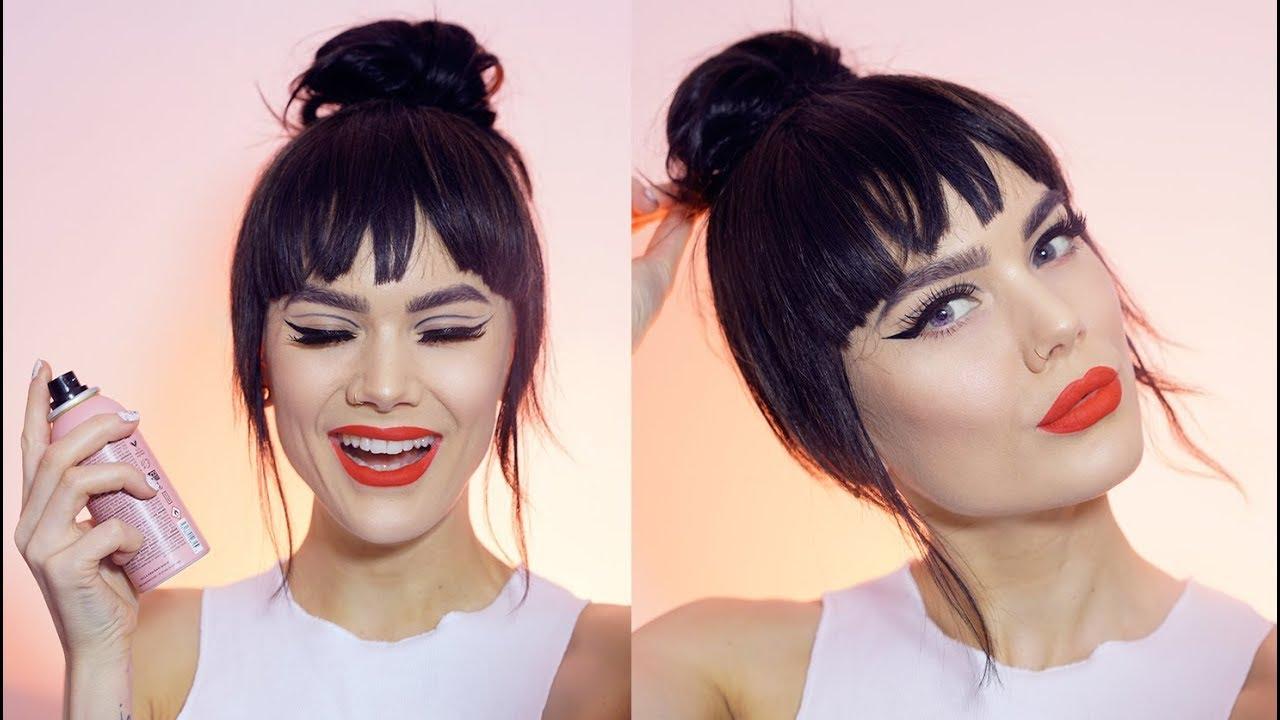 Simple Updo With Bangs Linda Hallberg Tutorials