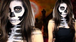 Halloween Totenkopf schminken | einfach & schnell | Make Up by Kisu