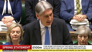 Philip Hammond's spring statement - 13th March 2018