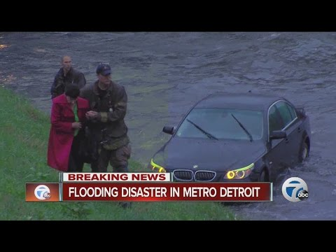 Flooding disaster in metro Detroit