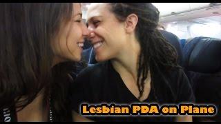 Stevie & Sarah | MPA Lésbica en Avión (subtitulado)
