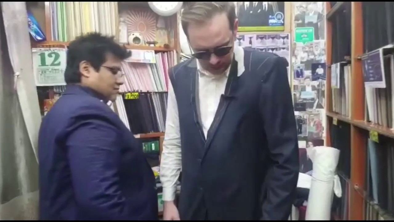 Full fitting of a suit at David Fashions - YouTube