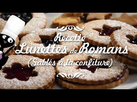 ☆◦comment-faire-des-lunettes-de-romans-(sablés-confiture)---shortbread-biscuits-with-jam-recipe-◦☆