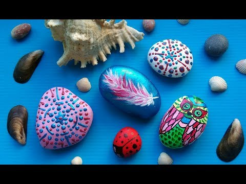 DIY Rock Painting Craft Ideas - Amazing Stone Art For Summer Home Decor