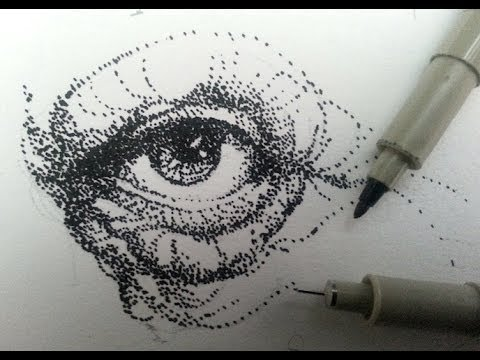How To Draw Shade With Stippling Stipples Or Dots Youtube