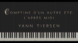 Comptine d'un autre été: l'Après-midi - Yann Tiersen \\ Synthesia Piano Tutorial
