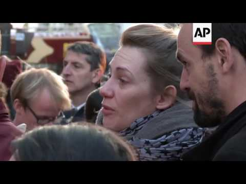 Supporters react to Melenchon defeat