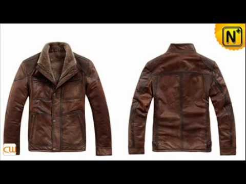 Winter Warm Brown Fur Lined Leather Jackets For Men CW819035 - YouTube
