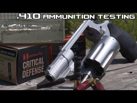 Taurus Judge/ S&W Governor .410 personal defense ammunition testing in SlowMo! (4K)