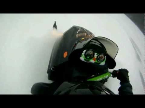 1997 Arctic Cat ZL 440 rocking it hard on a lake during Winter Storm Nemo in Maine U.S.A.