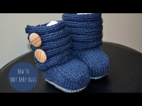 KNITTING TUTORIAL - BABY UGGs(booties)