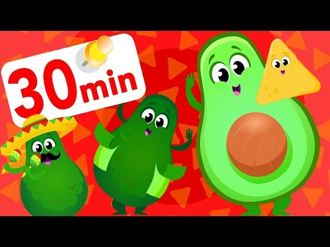 Peel The Avocado! Guacamole Dance Kids Song! Where My Stripes & Tail, Baby Shark by Little Angel