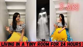 24 HOURS in a TINY Dark ROOM (SO SCARY)