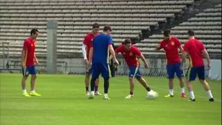 Spain training in Bordeaux - 20.06