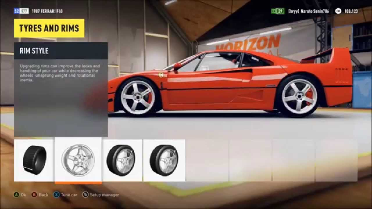 ferrari f40 retro supercar racing forza horizon 2 youtube. Black Bedroom Furniture Sets. Home Design Ideas
