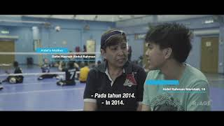 Malaysian Paralympic Sitting Volleyball Team Plays Ball with Children with Disabilities