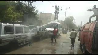 जोधपुर उदयमंदिर थाना जब्त दो चौपहिया वाहन अचानक आग लगा गई