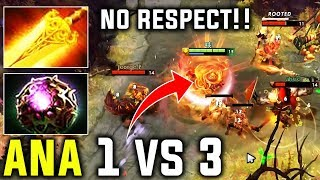 The Reason Why We Call Ana Best Ember - 1vs3 No Respect At All Dota 2