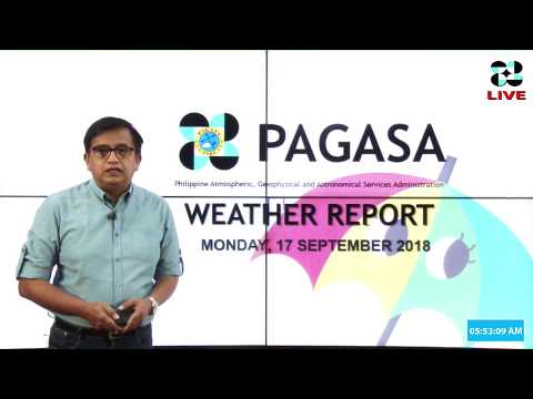 Public Weather Forecast Issued at 4:00 AM September 17, 2018