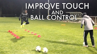 Soccer Drills to Improve Footwork and Ball Control - Plus Coach vs Player Challenge!