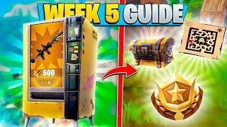 ALL WEEK 5 CHALLENGES FORTNITE GUIDE! (Fortnite Battle Royale)