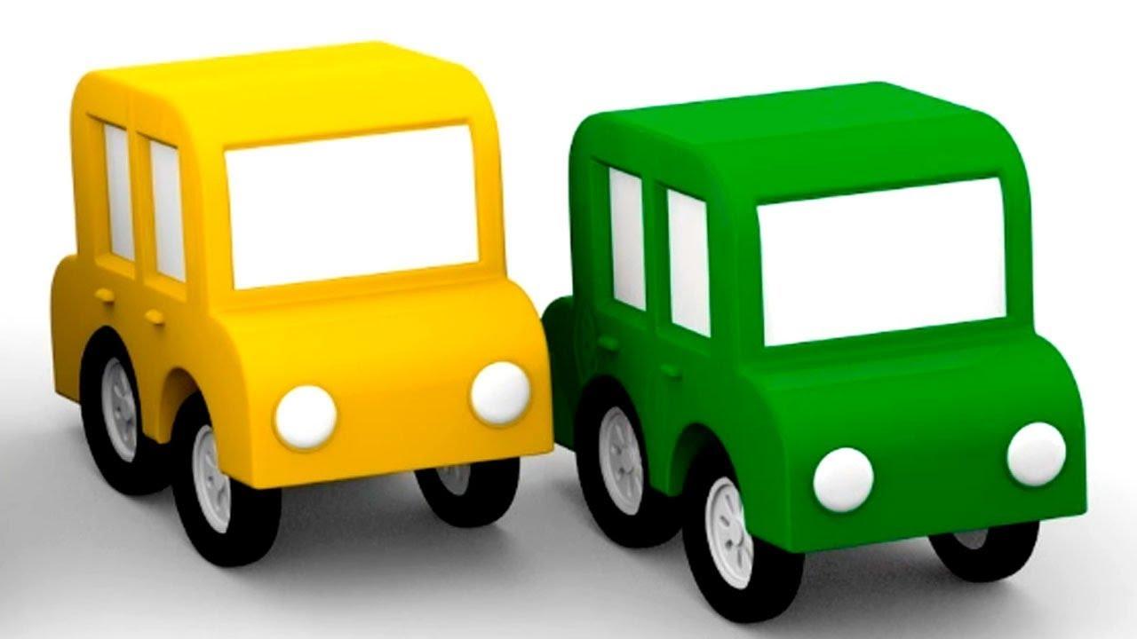 lehrreicher zeichentrickfilm die 4 kleinen autos das gelbe auto ist verschwunden youtube. Black Bedroom Furniture Sets. Home Design Ideas