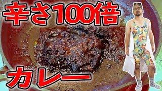 激辛カレーを煮詰めて辛さ100倍カレーを食べてみた【Mr.無表情】 thumbnail