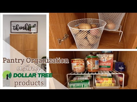 Small Pantry Organization; With Dollar Tree Products!||Military Housing