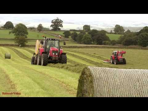 Raking and Baling - MF and New Holland Action