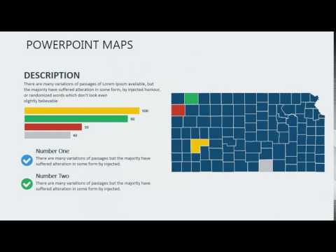 PowerPoint maps of Kansas with Counties