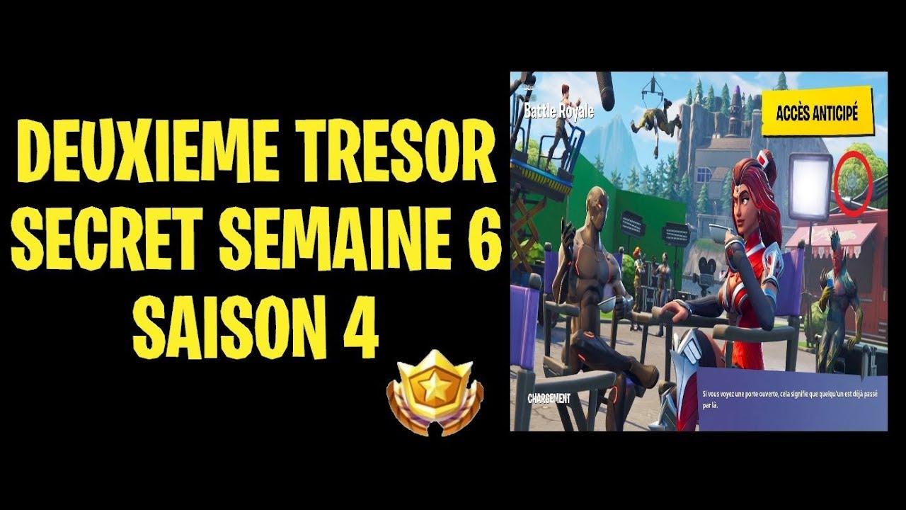 Carte Au Tresor Semaine 6 Saison 4.Fortnite Tresor Cache Dans L Ecran De Chargement Semaine 6 Saison 4 Defi Superproduction