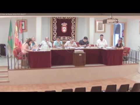 El Hoyo de Pinares. Pleno Ordinario Ayto. 1 Julio 2016