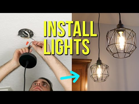 How to Install Ceiling Light Fixtures | New & Replacement Pendant Lighting