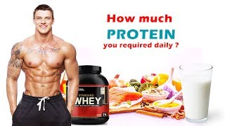 How much Protein you required daily for muscle building || by FitGuru||