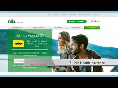 Top 10 Health Insurance List in Australia 2016